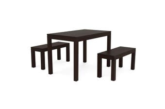 CT Amsterdam 120 x 70 Dining Set - Chocolate