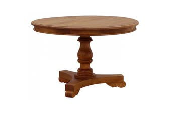 CT Queen Ann Round Dining Table - 120 cm - Light-pecan
