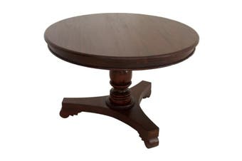 CT Queen Ann Round Dining Table - 120 cm - Mahogany