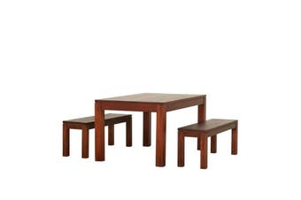 CT Dining Table and 2 Benches - Mahogany