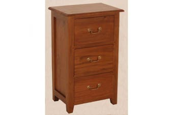 CT 3 Drawer Bedside Table - Light-pecan
