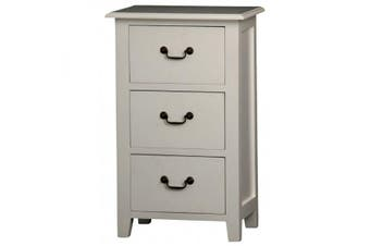 CT 3 Drawer Bedside Table - White