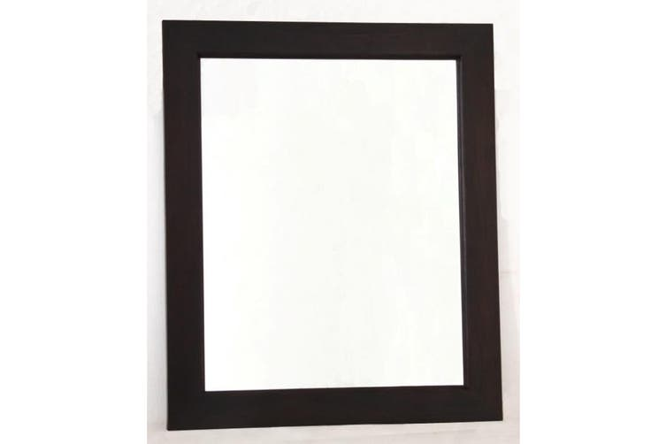 CT Wooden Frame 80 x 90cm Mirror Without Stud - Chocolate