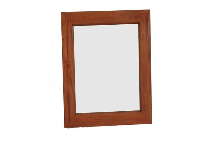 CT Wooden Frame 80 x 90cm Mirror Without Stud - Light-pecan