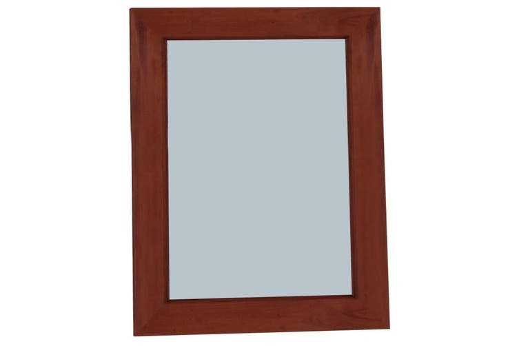 CT Wooden Frame 80 x 90cm Mirror Without Stud - Mahogany