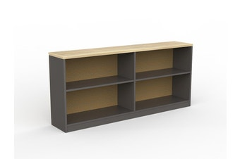 EkoSystem Credenza Bookcase with New Oak color - 720 x 1600 x 300mm