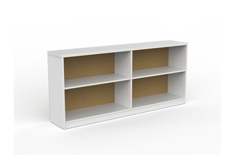 EkoSystem Credenza Bookcase with White color - 720 x 1600 x 300mm