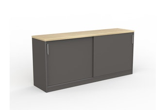 EkoSystem Credenza with New Oak color - 720 x 1600 x 400mm