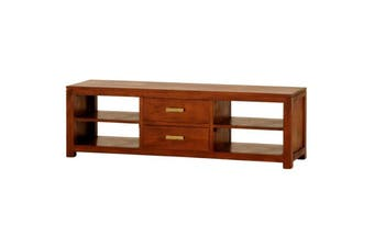 CT Milan 2 Middle Drawer Entertainment Unit - Light-pecan