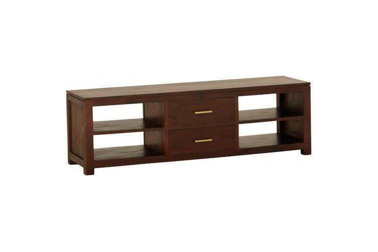 CT Milan 2 Middle Drawer Entertainment Unit - Mahogany