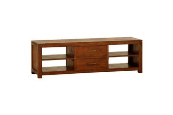 CT Paris 2 Middle Drawer Entertainment Unit - Light-pecan
