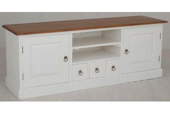 CT Tasmania 2 Door 3 CD Drawer Entertainment Unit - Two-toned