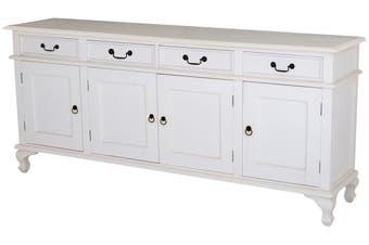 CT Queen Ann 4 Door 4 Drawer Buffet - White