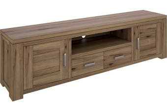 VI Ashfield Solid Acacia Timber TV Unit 2 Drawers; 2 Doors and 1 Niche Rustic Finish