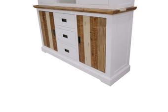VI Denver Acacia Timber Medium Buffet 2 Doors 3 Drawers Multi Colour Finish