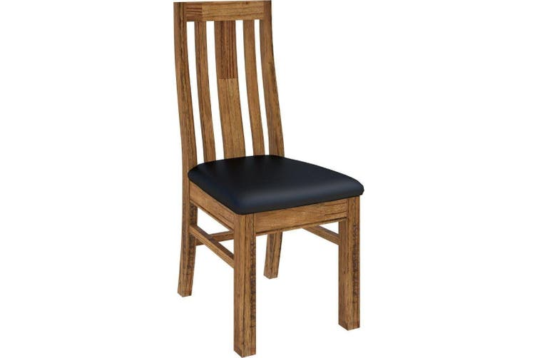 VI Tuscan Mountain Ash Dining Chair with PU Seat
