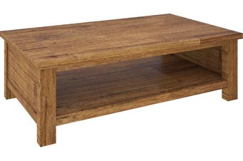 VI Tuscan Mountain Ash Coffee Table with Shelf