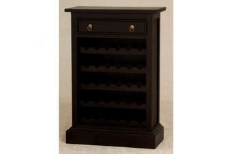 CT 1 Drawer Wine Rack (30 wine bottles) - Chocolate