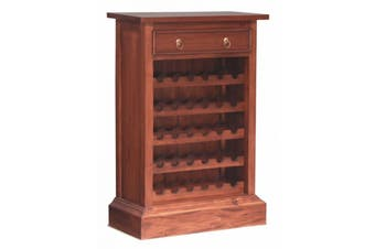 CT 1 Drawer Wine Rack (30 wine bottles) - Mahogany