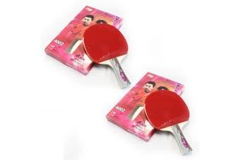2x DHS 4002 4 Star Table Tennis Bat Racket Long Handle Ping Pong Paddle Shakehand