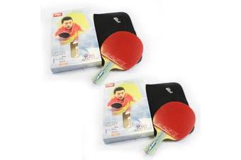 2x DHS 5002 5 Star Table Tennis Bat Racket Long Handle Ping Pong Paddle Shakehand