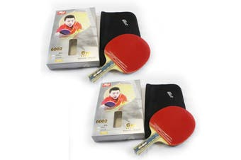 2x DHS 6002 6 Star Table Tennis Bat Racket Long Handle Ping Pong Paddle Shakehand