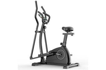 QM1001 Exercise Bike Elliptical Cross Trainer 5Kg Home Gym Fitness Machine Black