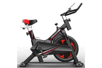 JMQ FITNESS 6104 Indoor Cycling Spin Bike for Professional Cardio Workout Home Red