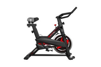 JMQ FITNESS Spin Bike Home Exercise Fitness Workout Gym Flywheel Red