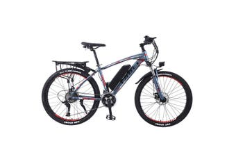 "TAOCI 01 26"" Electric Bike Bikes Bicycles 350W 36V Assisted Bicycle eBike Adult Grey/Red"