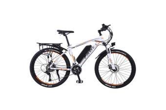 """TAOCI 01 26"""" Electric Bike Bikes Bicycles 350W 36V Assisted Bicycle eBike Adult White/Orange"""