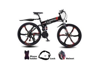 "AKEZ 350W 36V BM Electric Bike eBike Mountain Motorized Bicycle 26"" Build-in Battery"