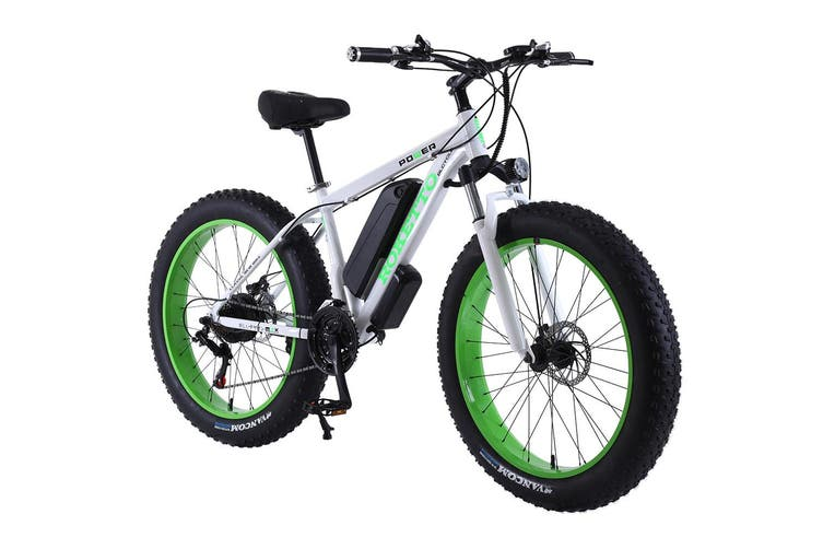 "ROKETTO 350W 36V Snow Motorized Bicycle Electric Bike eBike 26"" with Battery"