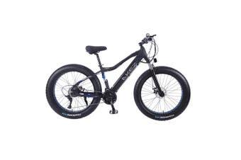 "AKEZ Cruiser Snow Bicycle Electric Bike eBike 26"" w/ Removable Battery Black"