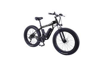 "AKEZ HT 350W 36V Electric Bike Beach eBike Snow Motorized Bicycle Battery 26"" Black"