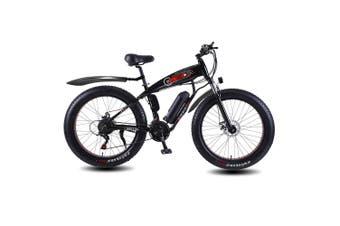 ROKETTO 350W 36V SHARK Electric Bike Beach eBike Snow Motorized Bicycle Black