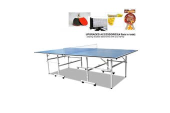 DH 13MM FOLDABLE PORTABLE PING PONG TABLE TENNIS TABLE + ACCESSORY PACKAGE