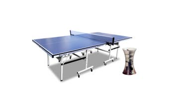 16mm Double Happiness Ping Pong Table Tennis Table Blue + iPong Mini