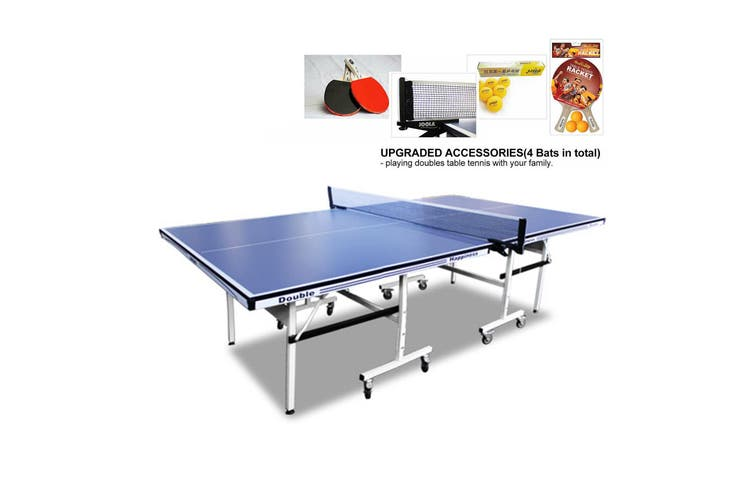 2019 New Model 16MM DOUBLE HAPPINESS PING PONG TABLE TENNIS TABLE+FREE GIFT PACK