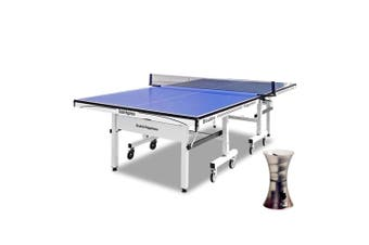 25MM PRO SIZE DOUBLE HAPPINESS PING PONG TABLE TENNIS TABLE + iPong Mini