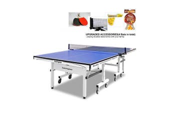 25MM PRO SIZE DOUBLE HAPPINESS PING PONG TABLE TENNIS TABLE + Accessory Package
