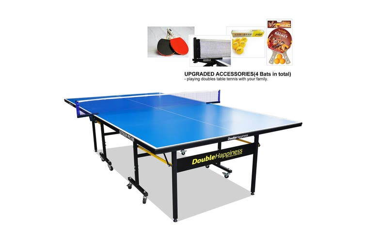 DH Outdoor Pro 600 Table Tennis Ping Pong Table w/Accessories Package