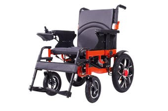OP-106S Electric Power Wheelchair Motorized Wheelchairs Foldable Red / Black