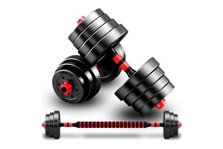 JMQ Adjustable Rubber Dumbbell Set Barbell Home GYM Exercise Weights Fitness 40kg
