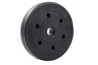JMQ Olympic Rubber Coated Cast Iron Weight Plates 2.5-15kg Set Commercial Grade 7.5KGx2