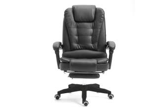 Mason Taylor Massage Computer Chair Office Home Chairs Recliner PVC Leather Black