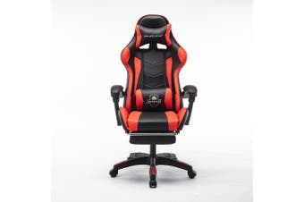 Mason Taylor Gaming Office Chair Home Computer Chairs Racing PVC Leather Seat Red