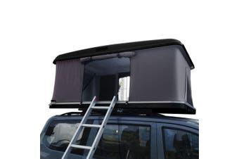 Mason Taylor Outdoor Black Hard Shell Rooftop Tent w/ Mattress Coffee Cloth