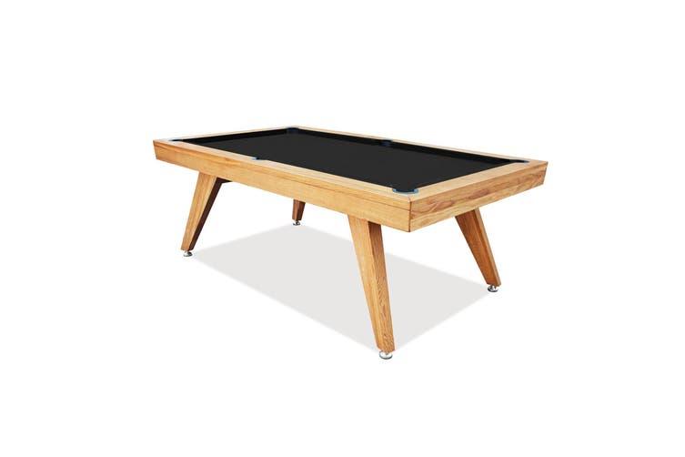 7FT LUXURY OAK SLATE POOL / BILLIARDS / SNOOKER TABLE W/ DINING TOP EOS