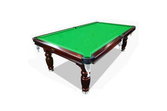 7FT Luxury Slate Pool Table Solid Timber Billiard Table Professional Snooker Game Table with Accessories Pack,Walnut Frame / Green Felt